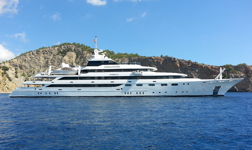 Superyacht O'mega in Ibiza