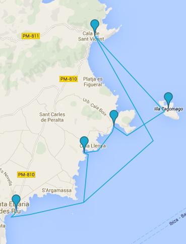 Rutas en barco ibiza y Formentera