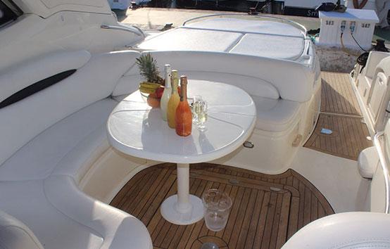 Ibiza yacht charter Cranchi 50 Exterior