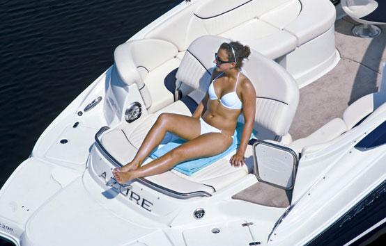 Ibiza motorboat charter Azure 298