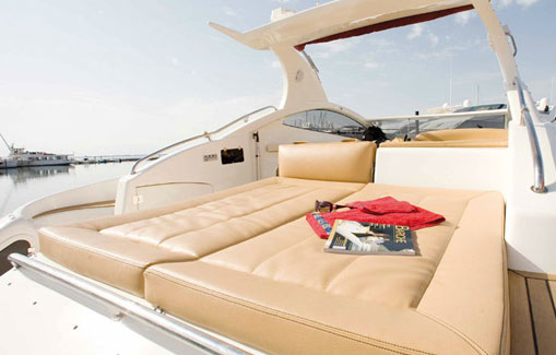Motorboat for charter on Ibiza Astondoa 40 Open
