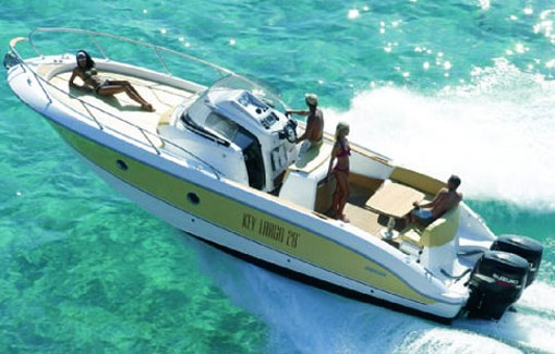 Ibiza motorboat charter Sessa key largo 28