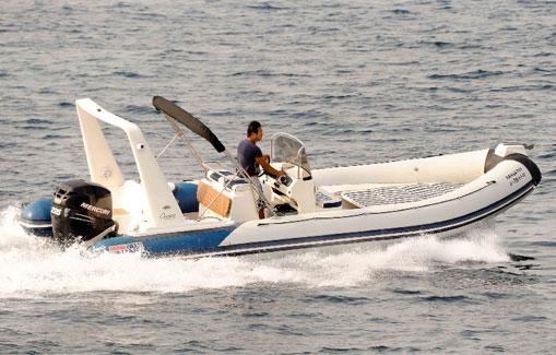 Alquiler de zodiac en Ibiza valiant vanguard 750