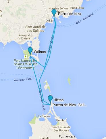 Rutas en barco por ibiza y Formentera