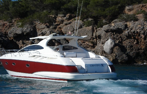 Motorboat for charter on Ibiza Astondoa 40 Open
