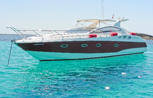 Motorboat charter on Ibiza Astondoa 40