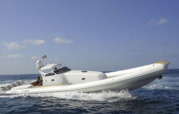 Ibiza inflatable boat charter Heaven 55