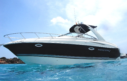 Motorboat charter on Ibiza Monterey 270 CR