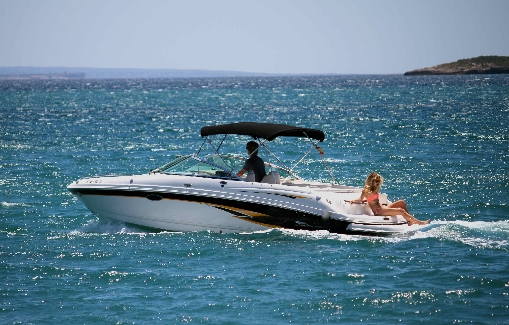 Ibiza motorboat charter Chaparral 230 SSi