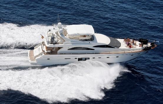 Yates de charter en Ibiza Astondoa 72 GLX
