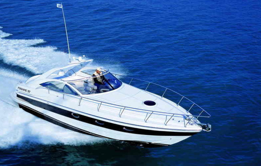 Motorboat for charter on Ibiza Pershing 37