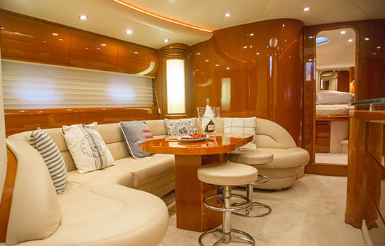 Princess V65 Interior Living room