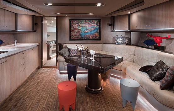 Sunseeker Predator 68 interior living room
