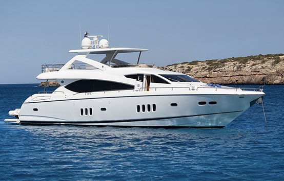 Yacht charter on Ibiza and Formentera Sunseeker 27m