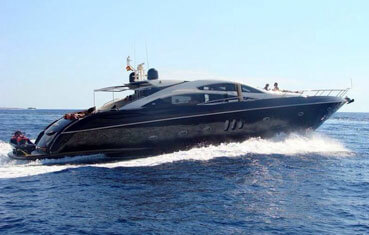 Sunseeker 82 yacht charter on Ibiza