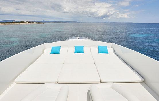 ibiza yacht charter pershing 90