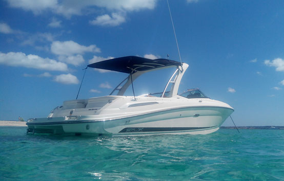 Ibiza motorboat charter Sea Ray 250 slx