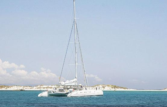 Alquiler catamaran para eventos en Ibiza