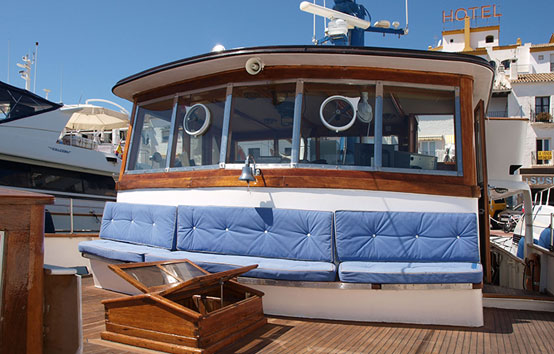 Event classic boat charter on Ibiza and Formentera