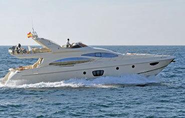 Yacht charter Azimut 68 on Ibiza