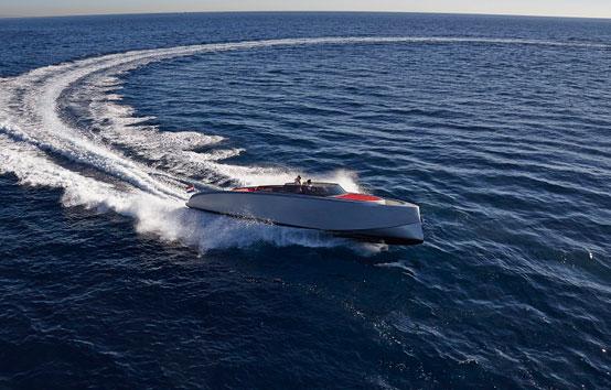 Ibiza motorboat charter Vanquish VQ43