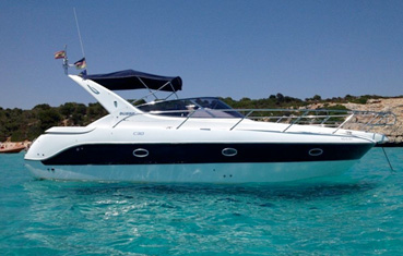 Motorboat charter on Ibiza and Formentera Sessa c30
