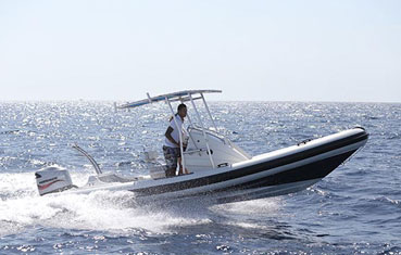 Zodiac hire on Ibiza Patriot Rib