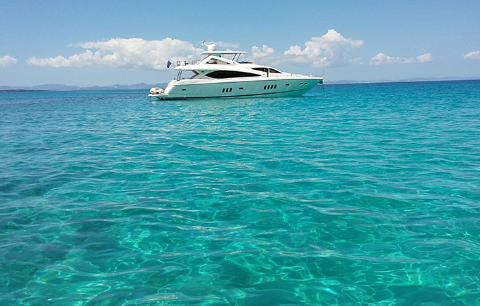 Sunseeker 27m on rental ibiza