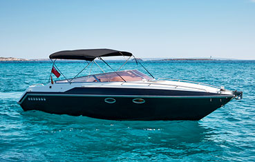Motorboat for hire on Ibiza Sunseeker Mohawk 29