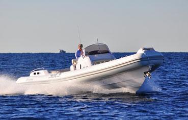 Ibiza Inflatable boat charter Sacs Stratos 12