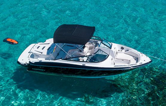 Ibiza motor boat charter Monterey 244