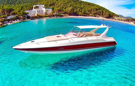 Ibiza motor boat-charter Sunseeker Apache 45