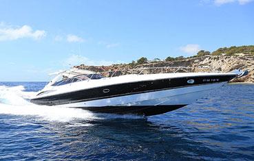 Ibiza motor boat charter Sunseeker Superhawk 48