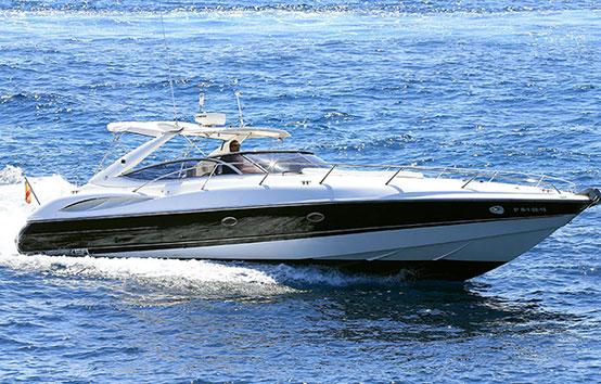 Ibiza motor boat charter Sunseeker Superhawk 48 Exterior