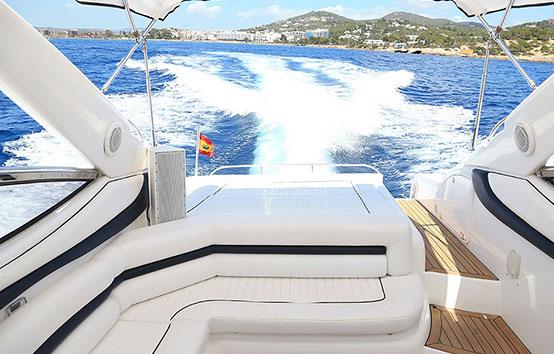 Ibiza motor boat charter Sunseeker Superhawk 48 Deck