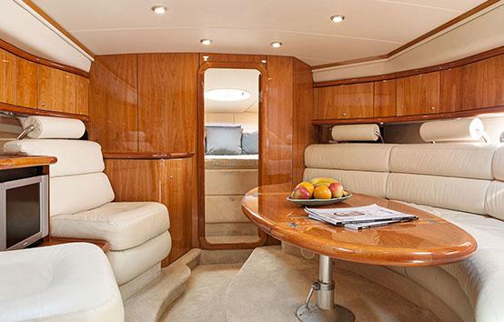 Ibiza motor boat charter Sunseeker Superhawk 48 Salon