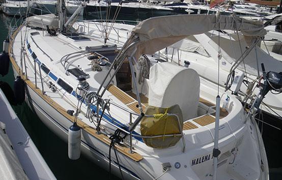 Ibiza sailboat charter Bavaria 42 exterior