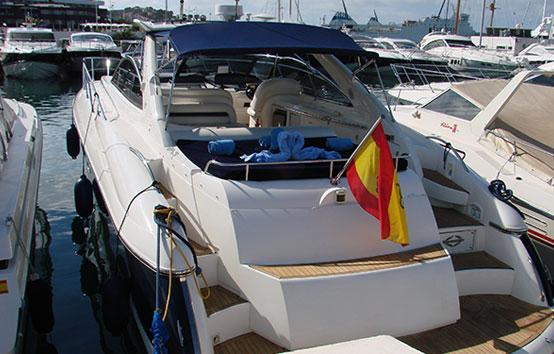 Ibiza yacht charter Sunseeker Camargue 50