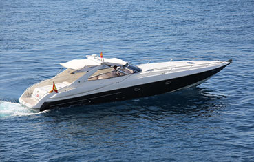 Ibiza yacht rental Sunseeker Superhawk 48