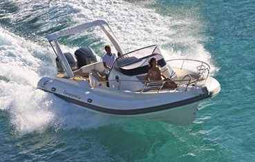 Ibiza Inflatable boat charter Capelli Tempest 850