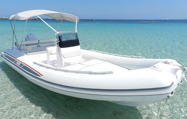 Ibiza inflatable boat charter Selva D600 ds