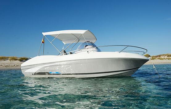Ibiza bareboat hire. Beneteau Flyer 650