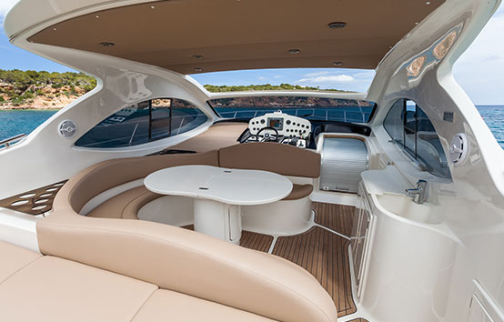 Ibiza comfortable boat on charter Primatist G41 Abbate