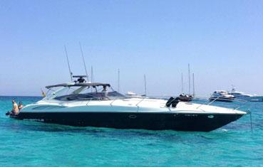 Ibiza Yacht charter Sunseeker Superhawk 50