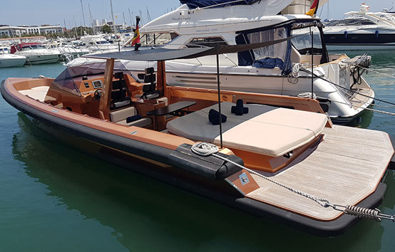 Wally Tender 45 mooring ibiza