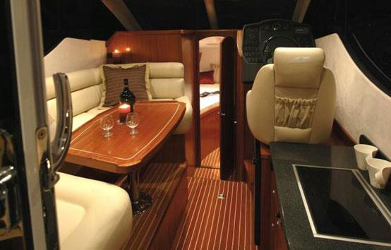 Ibiza Yacht Charter Galeon 290 Fly Interior