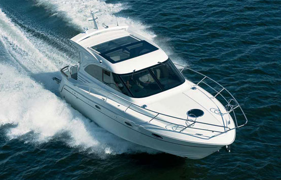 Galeon 330 ht on charter in ibiza waters
