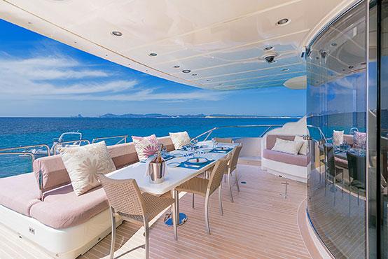 Ibiza yacht charter Leopard 32