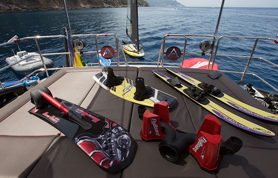 Ibiza Yacht Charter Palmer Johnson 120 water toys