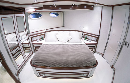 Ibiza Yacht Charter Palmer Johnson 120 room